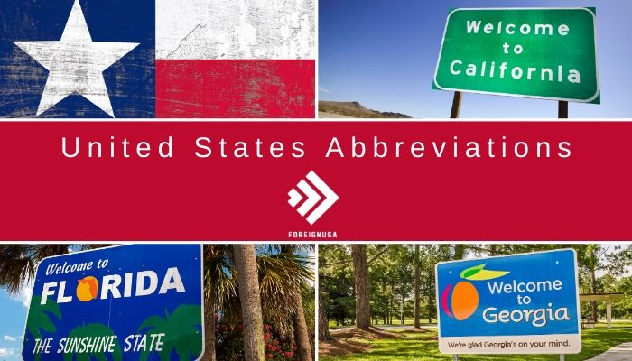 What are the United States Abbreviations?