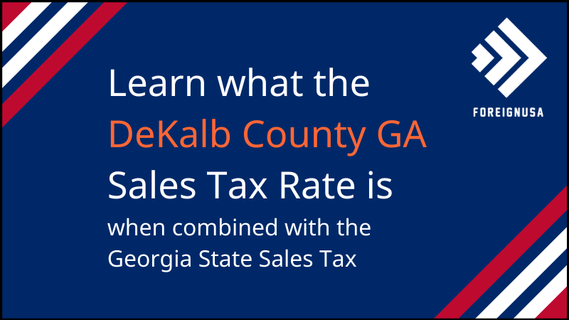 Read more about the article DeKalb County Sales Tax