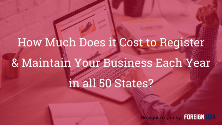 How much does it cost to register a business name in all 50 states?
