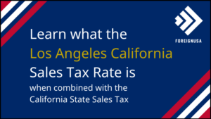 What is the Sales Tax in Los Angeles?