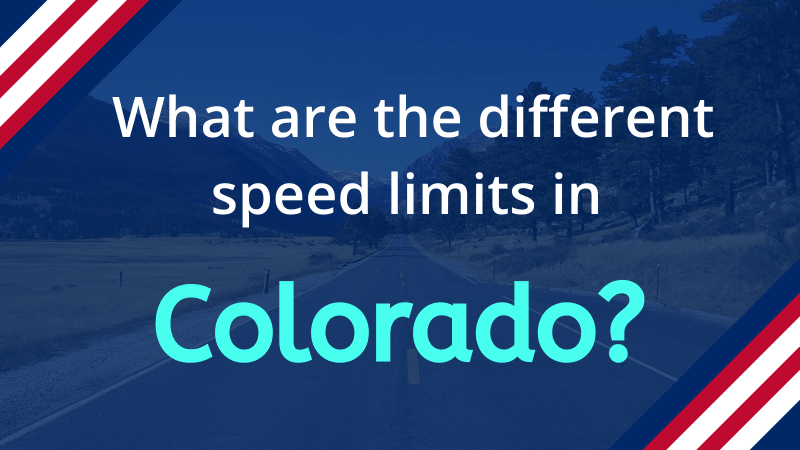 Speed limits in Colorado