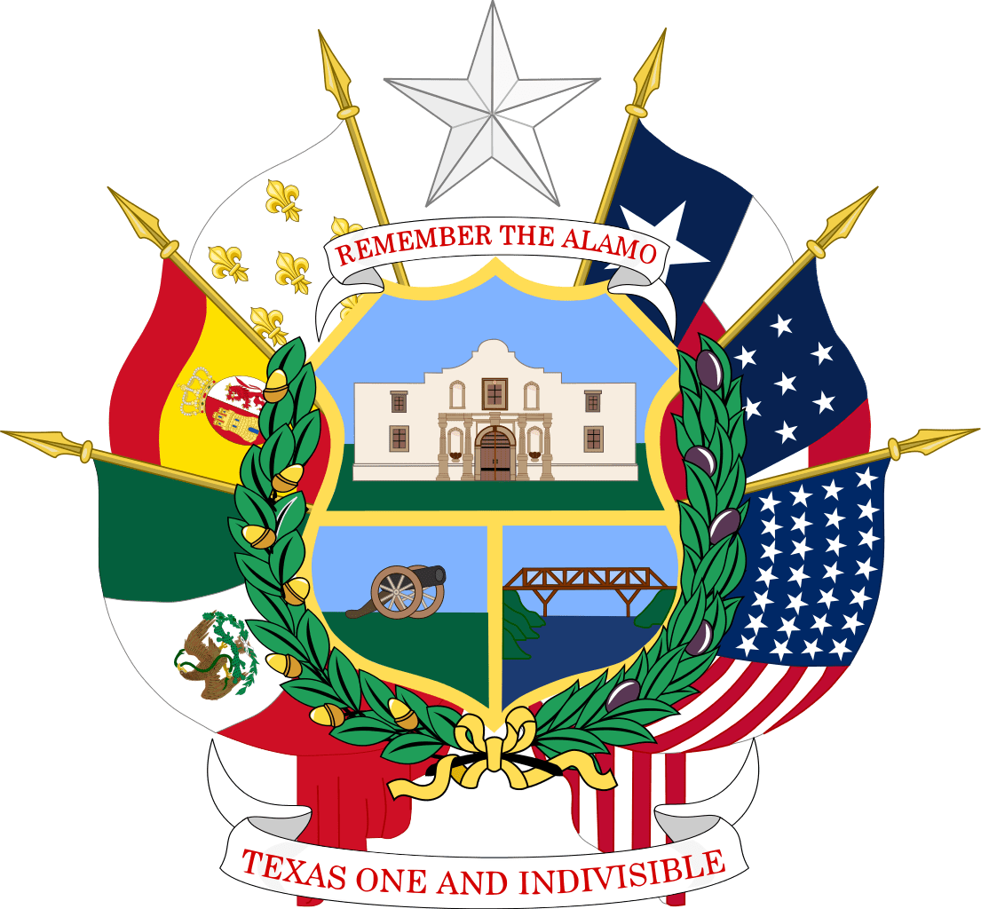 Texas state seal reversed