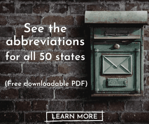 US Postal Abbreviations